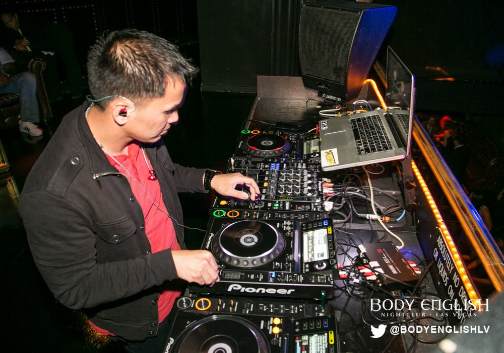 DJ Showtime at Body English inside Hard Rock Hotel Las Vegas