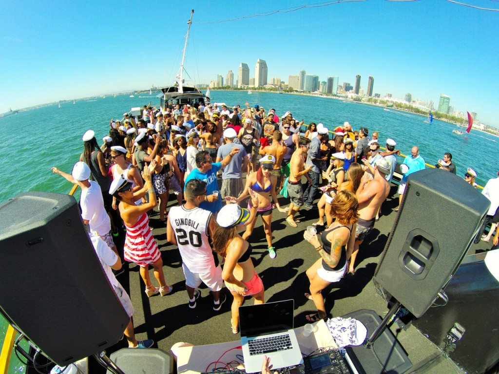 DJ Showtime at Pier Pressure Yacht Part - San Diego